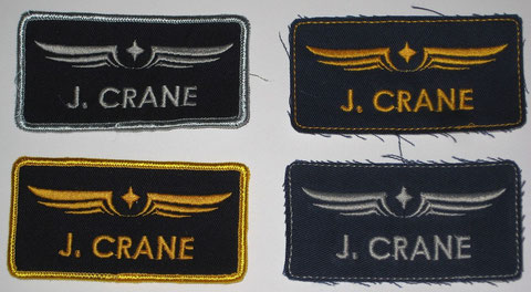 J Crane Flight Suit Patches : 4 versions