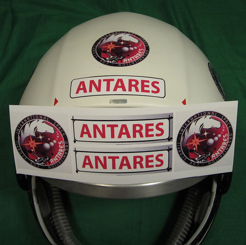 Antares Logo and Script adhesive decal copies : Professionally made