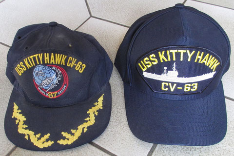 The original souvenir cap, and a profile logo new one