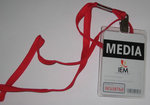 IEM Media Badge with Lanyard