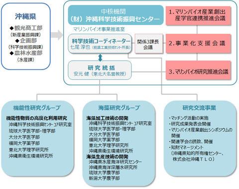 <マリンバイオ産業創出事業 体制図>