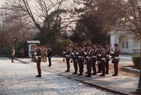 Palastwache im Januar 1981