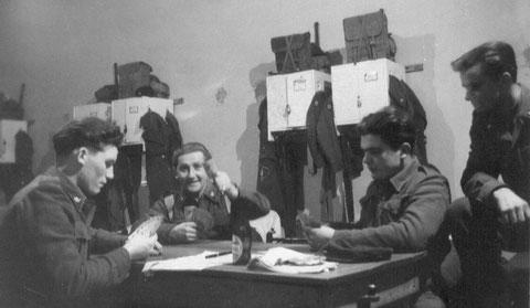 Beim Skat 1953 Vilz Edmund - Thome Ewald - Servaty Josef - Zuschauer Anton Peters