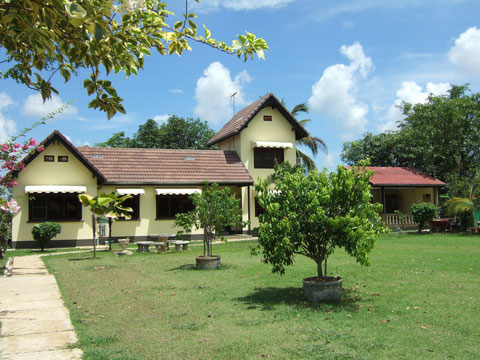Unser Haus im Reisfeld