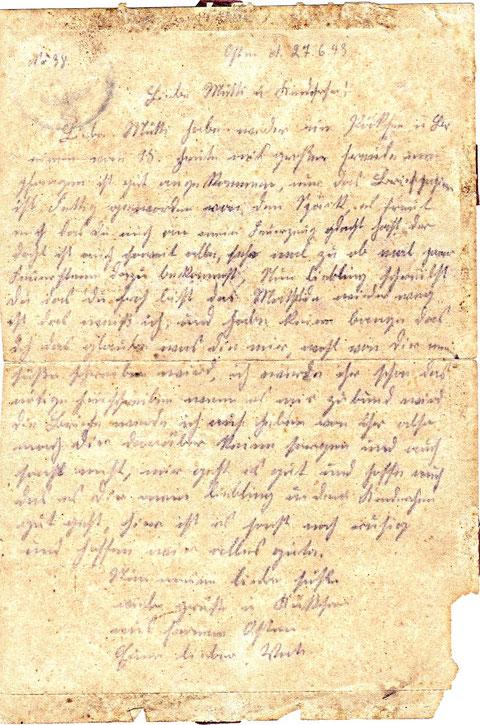 letzter Brief