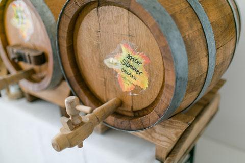 Holzfass zum Wein zapfen
