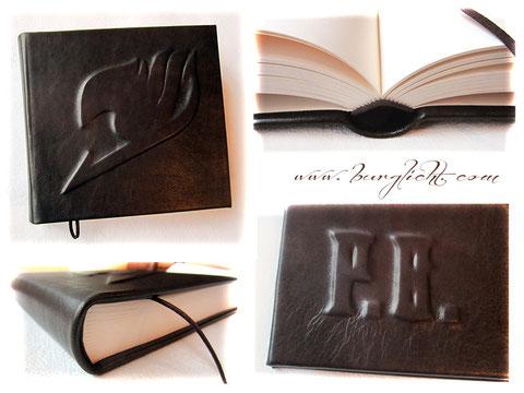 Lederbuch, Hardcover mit Reliefgestaltung