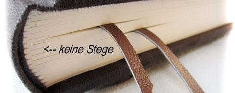 Beispiel für Buchblock in traditioneller Fadenheftung