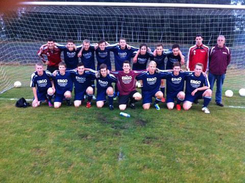 Die U19 vor dem Spiel gegen die JSG Heidenau/Holvede