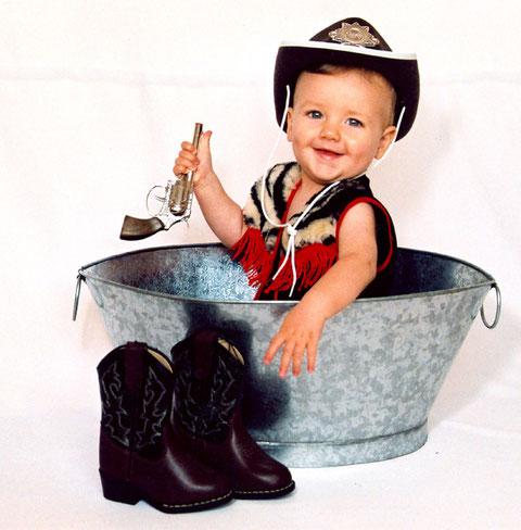 Cowboy in der Wanne