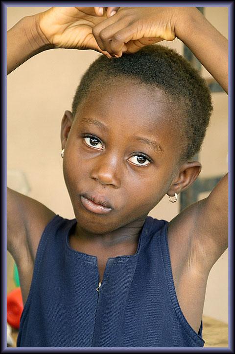 hübsches Mädchen in Ghana