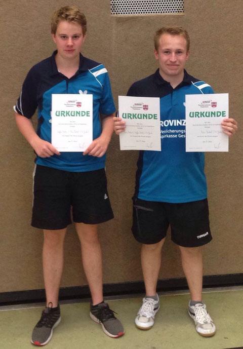 Steffen Schmitz und Fabio Deckert siegten im Jungen Doppel