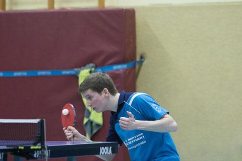 Pascal Polak gewann beide Einzel (Foto: Laame)