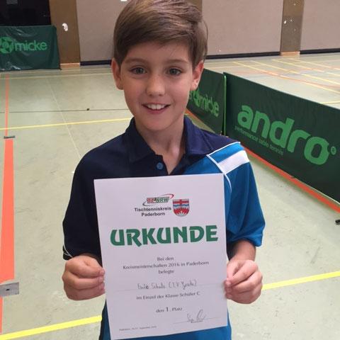 Emilo Schulz gewann bei den C- und B-Schülern