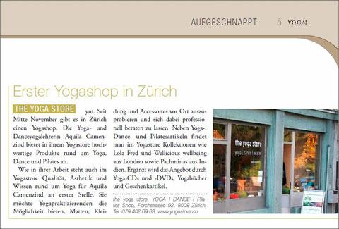 Erster Yogashop in Zürich!