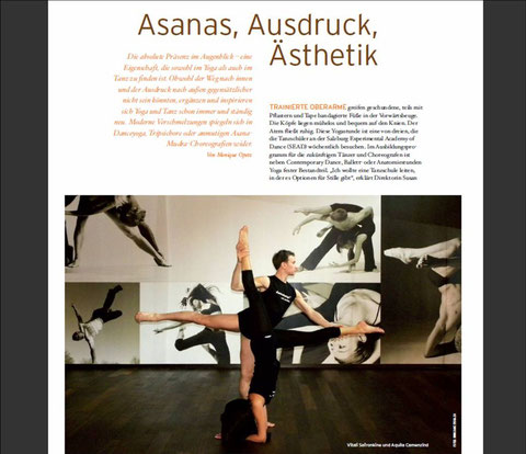 Yoga & Tanz l Yoga Journal Sept. 2010