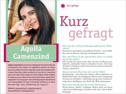 Yoga Aktuell: Kurz gefragt bei Aquila Camenzind