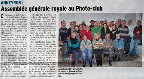 Article du Dauphiné Libéré du 22 janvier 2015
