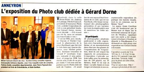 Article du Dauphiné Libéré du 3 mai 2018