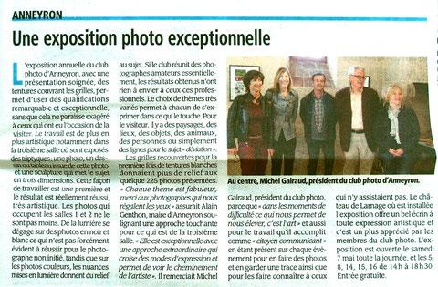 Article Drôme Hebdo du 5 mai 2016