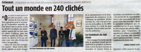 L'article de Drôme Hebdo du 1er mai 2014