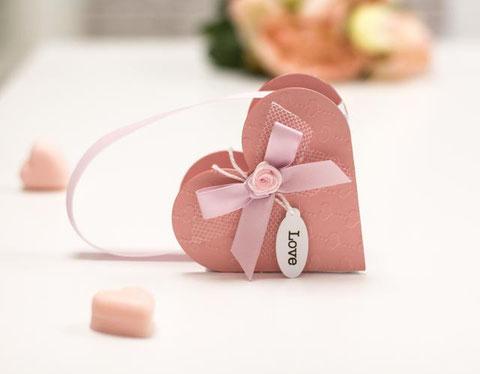 Herzschachtel rosa DIY