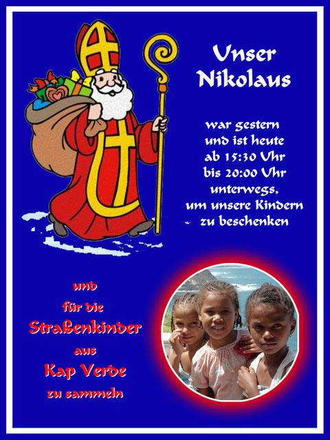 06. Dezember 2018 - In zwei Tagen hat unser Nikolaus 28 Haushalte und ca. 85 Kinder besucht