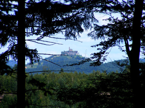 Rocher de Dabo vu des hauteurs de Walscheid