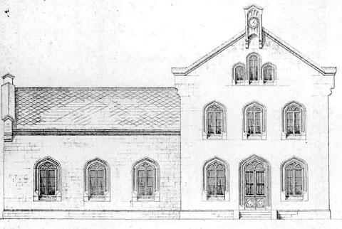 Strassenseite des Bahnhofsgebäudes in Kreuztal von 1861 (3)