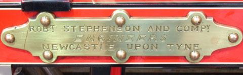 """Fabrikschild der Lokomotive """"Der Adler"""""""