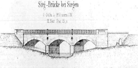 Siegbrücke von 1861 an der Ausfahrt des Bahnhofs Siegen Richtung Hagen (3)