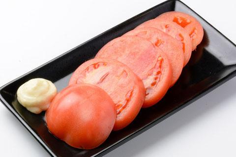 冷やしトマトスライス…¥400