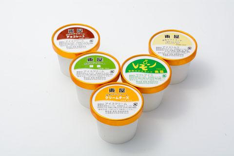 カップアイス 各種(クリームチーズ、レモン、バニラ、抹茶、チョコレート)…¥260