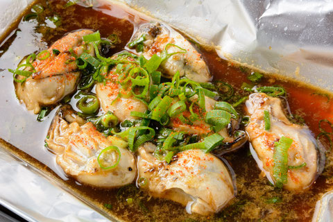 牡蠣ポン酢の鉄板焼き…¥950
