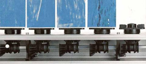 Prismenwender Wellenantrieb (abb. Torsionwelle mit 1/4 Zahnrädern und unterem Prismensitz)