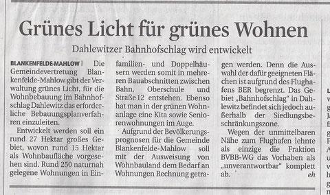 MAZ / Zossener Rundschau 2./3.2.2013
