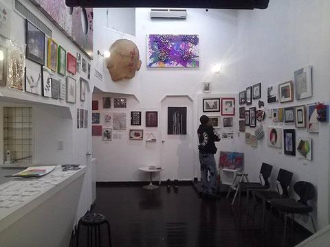 AU展・展示風景です。