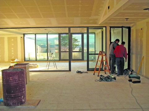 El nuevo centro sociocultural de Lazagurría está muy avanzado. (Foto: DN)