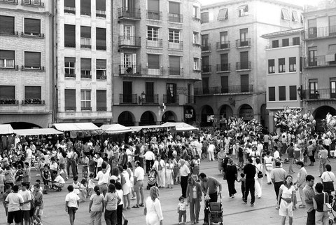 Imagen de fiestas de Los Fueros, donde actúan las orquestas. (Foto: DN)