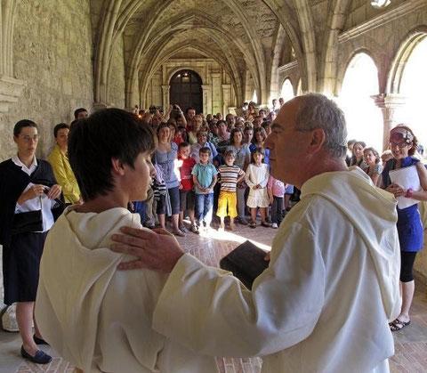 Una de las visitas teatralizadas del año pasado en el monasterio.