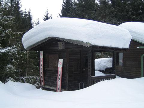 Schneemassen im Startbereich Ginzes ... auch das hat es gegeben