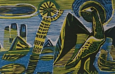 Albert Christoph Reck: Vogel Phönix 1956  Quelle: Landesmuseen Schloss Gottorf