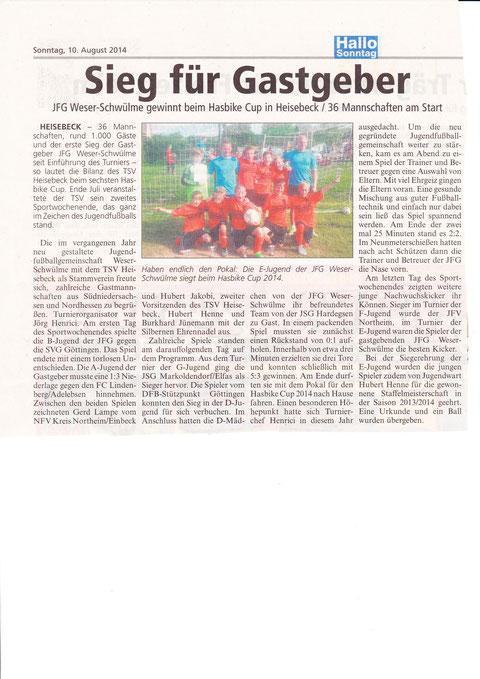 Presseberichte vom Hasbike Cup