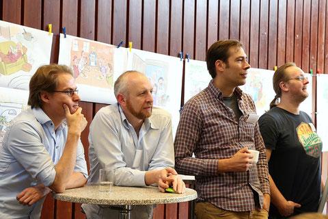 von links: Jens Benecke, Timo Müller-Wegener, Michael Mantel, Oliver Kurth
