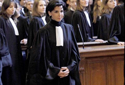 Au Palais de justice de Paris, les avocats prêtent serment, ici Rachida Dati.( photo D.R).