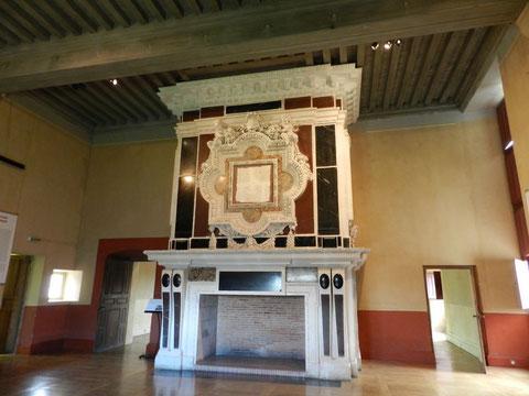 Une des salles royales du château : la salle de réception