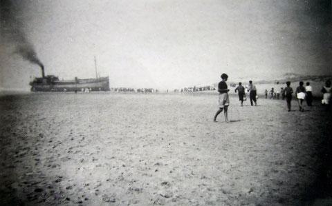 1937 : le Cantabria au petit matin (photo de A. Papillon)