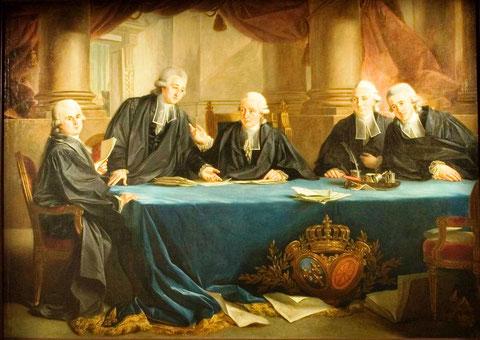 Les juges et consuls de la Bourse de Bordeaux pour l'année 1785-1786, ( Mairie de Bordeaux)
