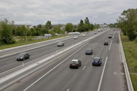 Mise progressive de la rocade à 2x3 voies à Bordeaux ( photo de D. Sherwin-White)