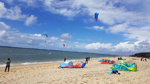 Sport à hauts risques: le kite-surf (photo J. Duguet)